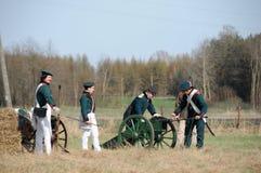 rétablissement de bataille de 19ème siècle Photo libre de droits