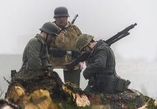 Rétablissement de la deuxième guerre mondiale Blyth, le Northumberland, Angleterre 16 05 2013 image stock
