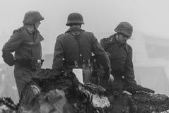 Rétablissement de la deuxième guerre mondiale Blyth, le Northumberland, Angleterre 16 05 2013 photo stock