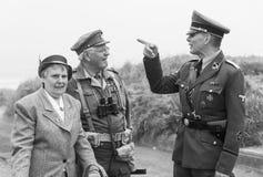 Rétablissement de la deuxième guerre mondiale Blyth, le Northumberland, Angleterre 16 05 2013 photos libres de droits