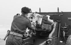 Rétablissement de la deuxième guerre mondiale Blyth, le Northumberland, Angleterre 16 05 2013 photos stock