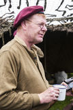 Rétablissement de la deuxième guerre mondiale Blyth, le Northumberland, Angleterre 16 05 2013 image libre de droits