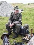 Rétablissement de la deuxième guerre mondiale Blyth, le Northumberland, Angleterre 16 05 2013 Photographie stock libre de droits