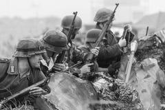 Rétablissement de la deuxième guerre mondiale Blyth, le Northumberland, Angleterre 16 05 2013 Images libres de droits