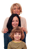 Rétablissement de la famille trois Photo stock