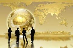 Rétablissement global - édition d'affaires Photos libres de droits