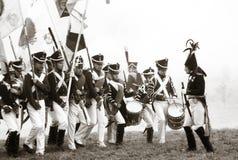 Rétablissement historique de Borodino 2012 Photo stock