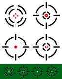 Réticule, réticule, ensemble de marque de cible 4 réticules différents Images stock