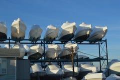 Rétrécissement de bateaux enveloppé Photo libre de droits