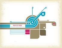 Rétro élément de conception illustration stock