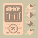 Rétro éléments d'infographics Configuration heureuse sans joint de famille du Pixel art Photos libres de droits