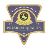 Rétro étiquette de qualité de la meilleure qualité illustration stock