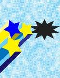 Rétro étoiles avec le fond d'image tramée Photographie stock