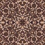 Rétro abrégé sur sans couture papier peint oriental stylisé de fleurs Illustration de Vecteur