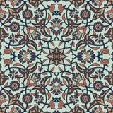 Rétro abrégé sur sans couture papier peint oriental stylisé de fleurs Images libres de droits