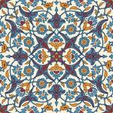 Rétro abrégé sur sans couture papier peint oriental stylisé de fleurs Photographie stock