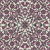 Rétro abrégé sur sans couture papier peint oriental stylisé de fleurs Photos stock