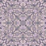 Rétro abrégé sur sans couture papier peint oriental stylisé de fleurs Photo stock