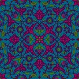 Rétro abrégé sur sans couture papier peint oriental stylisé de fleurs Illustration Stock