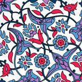 Rétro abrégé sur sans couture papier peint oriental stylisé de fleurs Image libre de droits