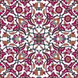 Rétro abrégé sur sans couture papier peint oriental stylisé de fleurs Illustration Libre de Droits
