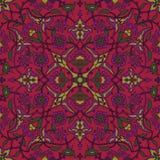 Rétro abrégé sur sans couture papier peint oriental stylisé de fleurs Image stock