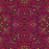 Rétro abrégé sur sans couture papier peint oriental stylisé de fleurs Photographie stock libre de droits