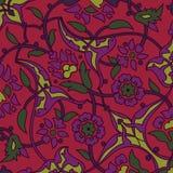 Rétro abrégé sur sans couture papier peint oriental stylisé de fleurs Photo libre de droits
