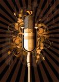Rétro abstrait avec le microphone Photographie stock libre de droits