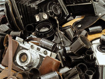 Rétro accessoire de photo Photo stock
