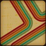 Rétro affiche avec le fond grunge abstrait illustration libre de droits