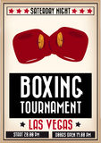 Rétro affiche de boxe Image libre de droits