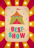 Rétro affiche de cirque Images stock