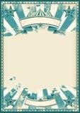 Rétro affiche de cirque bleu illustration stock