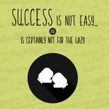 Rétro affiche de motivation de main-dessin pour l'accomplissement des objectifs avec les expressions sages au sujet du succès Vec illustration stock