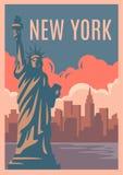 Rétro affiche de New York illustration stock