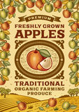 Rétro affiche de pommes illustration libre de droits