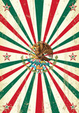 Rétro affiche mexicaine de rayons de soleil Image stock