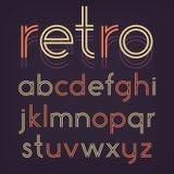 Rétro alphabet Photos stock