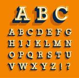 Rétro alphabet créatif Images stock
