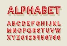 Rétro alphabet créatif Image stock