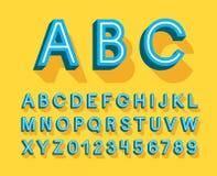 Rétro alphabet créatif Photos libres de droits