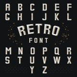 Rétro alphabet de Chicago Image libre de droits