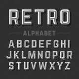 Rétro alphabet de type illustration libre de droits