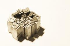 Rétro amour de mot en métal de patchwork Images libres de droits