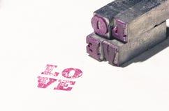 Rétro amour de mot en métal de patchwork Photographie stock libre de droits