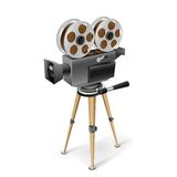 Rétro appareil-photo de cinéma Images libres de droits