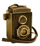 Rétro appareil-photo de photo de TLR (réflexe de Jumeau-lentille) Photos stock