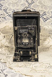 Rétro appareil-photo de pliage photo libre de droits