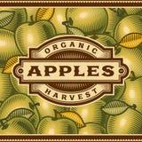 Rétro Apple moissonnent le label illustration de vecteur